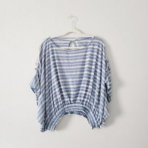 FREE PEOPLE Oversized Striped Top